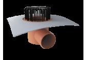 Strešný vpust Topwet  na PVC - vodorovný odtok,  DN 100