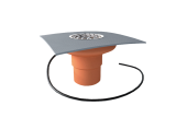Balkónový vpust Topwet PVC fóliu DN 50 mm s ohrevom