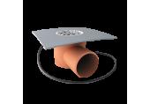 Balkónový vpust Topwet na PVC fóliu DN 50 mm s bočným odtokom a s ohrevom