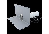 Guľatý vyhrievaný chrlič na PVC fóliu TOPWET DN 100 mm