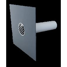 Guľatý poistný prepad na PVC fóliu TOPWET DN 110 mm